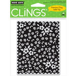 Hero Arts - Clings - Repositionable Rubber Stamps - Edged Fabric with Flowers