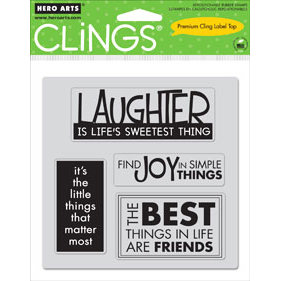 Hero Arts - Clings - Repositionable Rubber Stamps - Things - Set of Four