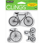Hero Arts - Clings - Repositionable Rubber Stamps - Bicycles - Set of Three