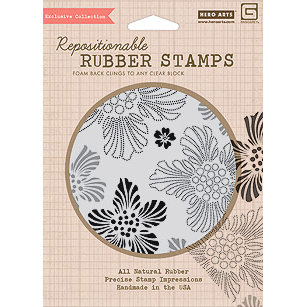 Hero Arts - BasicGrey - Hello Luscious Collection - Clings - Repositionable Rubber Stamps - Floral Background