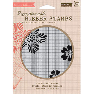Hero Arts - BasicGrey - Hello Luscious Collection - Clings - Repositionable Rubber Stamps - Ledger