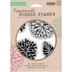 Hero Arts - BasicGrey - Sweet Threads Collection - Clings - Repositionable Rubber Stamps - Sweet Threads - Set of Four