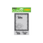 Hero Arts - Clings - Repositionable Rubber Stamps - Daisy Label