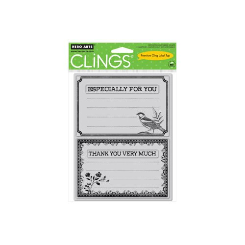 Hero Arts - Clings - Repositionable Rubber Stamps - Especially For You