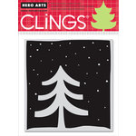 Hero Arts - Clings - Christmas - Repositionable Rubber Stamps - White Christmas