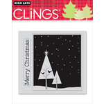 Hero Arts - Clings - Christmas - Repositionable Rubber Stamps - Two Birds In A Tree - Set of Two
