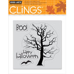 Hero Arts - Clings - Halloween - Repositionable Rubber Stamps - So Scary - Set of Four