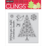 Hero Arts - Clings - Christmas - Repositionable Rubber Stamps - Joyful Christmas Season - Set of Six