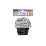 Hero Arts - Clings - Repositionable Rubber Stamps - Newspaper Cupcake