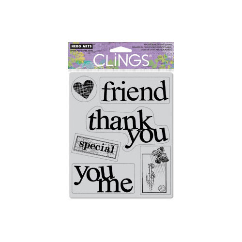Hero Arts - Clings - Repositionable Rubber Stamps - Big Words