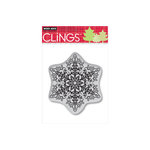 Hero Arts - Clings - Christmas - Repositionable Rubber Stamps - Dotted Snowflake