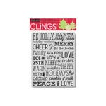 Hero Arts - Clings - Christmas - Repositionable Rubber Stamps - Be Jolly