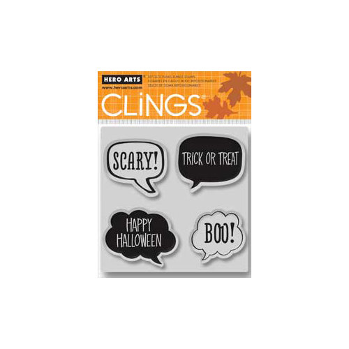 Hero Arts - Clings - Halloween - Repositionable Rubber Stamps - Scary!