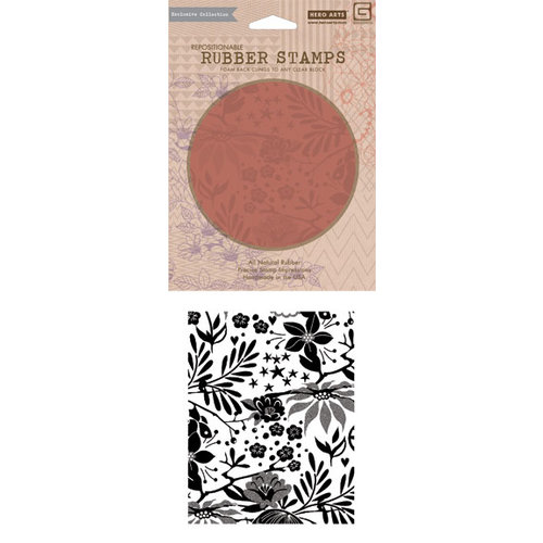 Hero Arts - BasicGrey - Aspen Frost Collection - Repositionable Rubber Stamps - Poinsettia