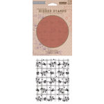 Hero Arts - BasicGrey - Soleil Collection - Repositionable Rubber Stamps - Flowers, Lines and Dots