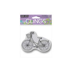 Hero Arts - Clings - Repositionable Rubber Stamps - Bike with Basket