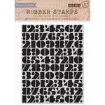 Hero Arts - BasicGrey - Capture Collection - Repositionable Rubber Stamps - Number Background