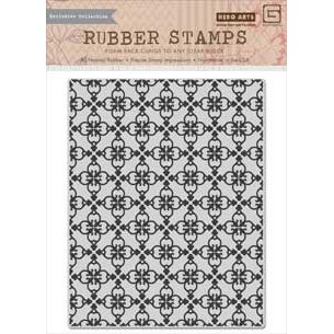 Hero Arts - BasicGrey - Herbs N Honey Collection - Repositionable Rubber Stamps - Tile Background