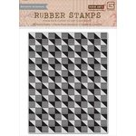 Hero Arts - BasicGrey - Highline Collection - Repositionable Rubber Stamps - Geometric Background