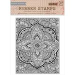 Hero Arts - BasicGrey - Spice Market Collection - Repositionable Rubber Stamps - Large Petal Background
