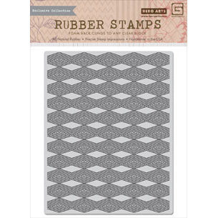 Hero Arts - BasicGrey - Grand Bazaar Collection - Repositionable Rubber Stamps - Diamond Background