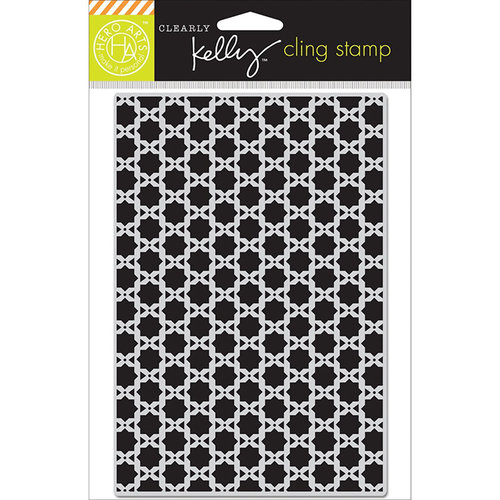 Hero Arts - Kelly Purkey Collection - Clings - Repositionable Rubber Stamps - Background Squares