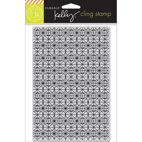 Hero Arts - Kelly Purkey Collection - Clings - Repositionable Rubber Stamps - Background Stars