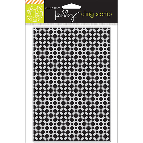 Hero Arts - Kelly Purkey Collection - Clings - Repositionable Rubber Stamps - Background Tile