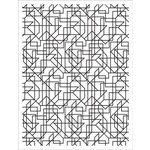 Hero Arts - BasicGrey - Prism Collection - Repositionable Rubber Stamps - Lines Background
