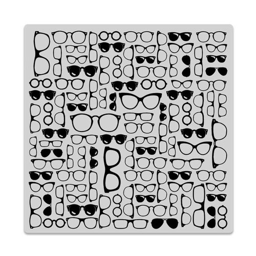 Hero Arts - Trend Collection - Clings - Repositionable Rubber Stamps - Glasses Bold Prints