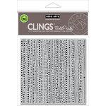 Hero Arts - Clings - Repositionable Rubber Stamps - Pearl Strings Bold Prints