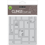 Hero Arts - Trend Collection - Clings - Repositionable Rubber Stamps - Street Map Bold Prints