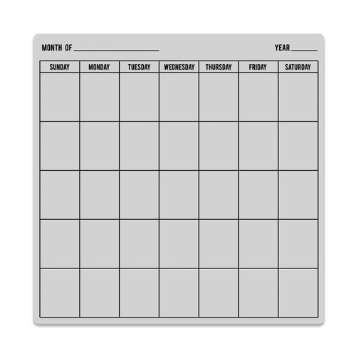 Hero Arts - Everyday Collection - Clings - Repositionable Rubber Stamps - Calendar Bold Prints