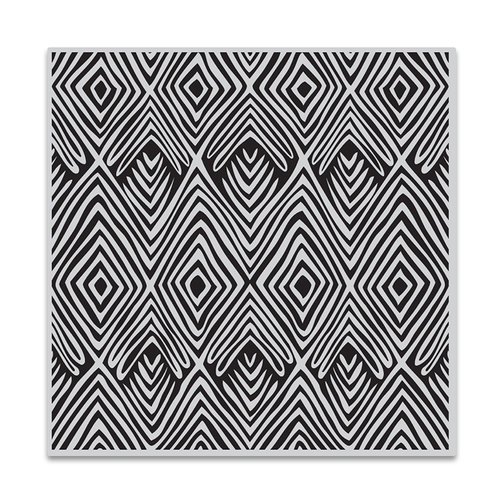 Hero Arts - Clings - Repositionable Rubber Stamps - Tribal Stripes Bold Prints