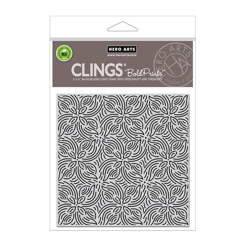 Hero Arts - Clings - Repositionable Rubber Stamps - Repeating Flower Bold Prints