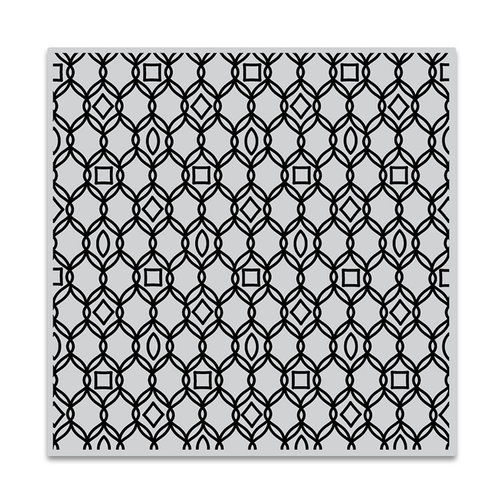 Hero Arts - Clings - Repositionable Rubber Stamps - Filigree Pattern Bold Prints
