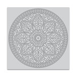Hero Arts - Clings - Repositionable Rubber Stamps - Mandala Bold Prints