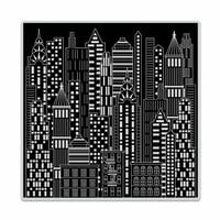 Hero Arts - Clings - Repositionable Rubber Stamps - Urban Skyline Bold Prints