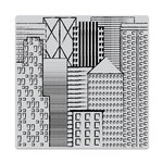 Hero Arts - Clings - Repositionable Rubber Stamps - Abstract Skyline Bold Prints