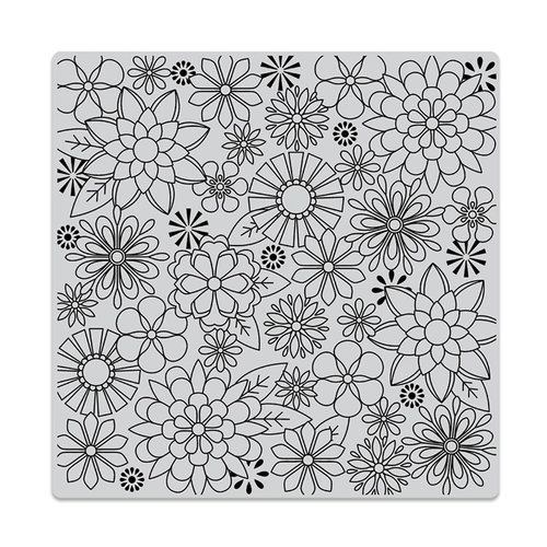Hero Arts - Clings - Repositionable Rubber Stamps - Blossoms for Coloring Bold Prints