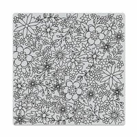 Hero Arts - Clings - Repositionable Rubber Stamps - Flowers for Coloring Bold Prints