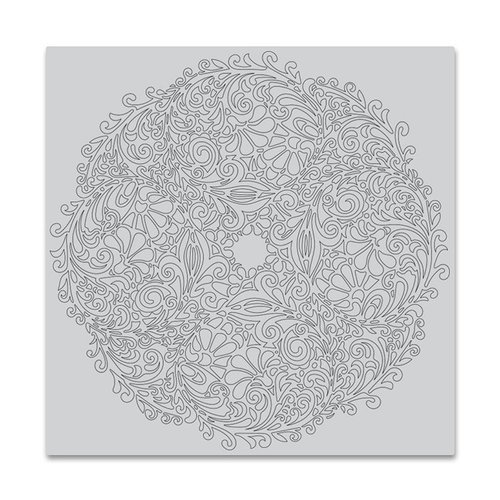 Hero Arts - Clings - Repositionable Rubber Stamps - Floral Doily Bold Prints