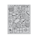 Hero Arts - Clings - Repositionable Rubber Stamps - Presents Background