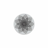 Hero Arts - Hero Florals - Clings - Repositionable Rubber Stamps - Star Flower Cling