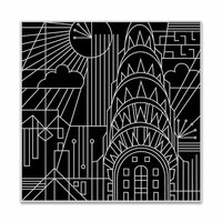 Hero Arts - Clings - Repositionable Rubber Stamps - Deco in the City Bold Prints