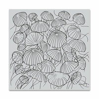 Hero Arts - Clings - Repositionable Rubber Stamps - Jellyfish Party Bold Prints