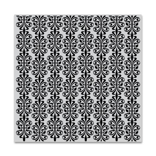 Hero Arts - Clings - Repositionable Rubber Stamps - Venetian Fleur de lis Bold Prints