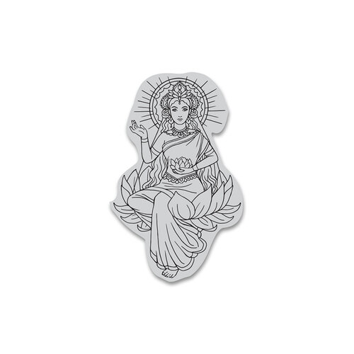 Hero Arts - Cling Mount Rubber Stamps - Lotus Lady