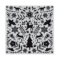 Hero Arts - Christmas - Repositionable Rubber Stamps - Nordic Holiday Bold Prints