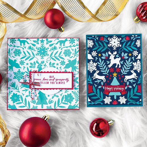 Christmas Stamps.Hero Arts Christmas Repositionable Rubber Stamps Nordic Holiday Bold Prints